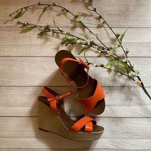 J.crew patent leather wedge sandals